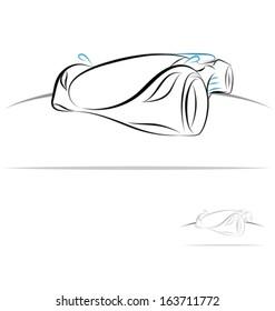 stylized sport car
