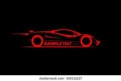 stylized sports car coupe