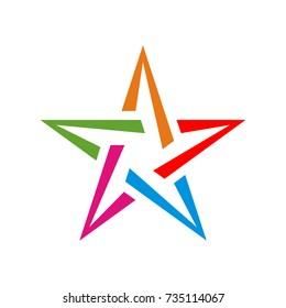 Stylized star logo design template vector