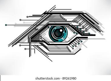 stylized technology eye