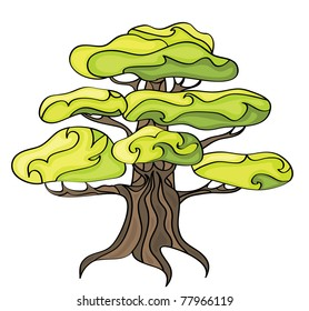 Stylized tree for your design. Vector.