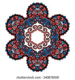 Flor De Loto Tribal Mandala Vector