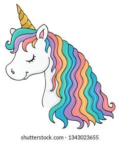 Stylized unicorn head theme image 1 - eps10 vector illustration.