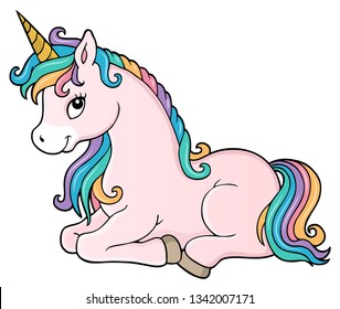 Stylized unicorn theme image 1 - eps10 vector illustration.
