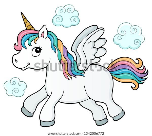 Stylized unicorn theme image 3 - eps10 vector illustration.