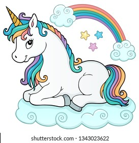 Stylized unicorn theme image 5 - eps10 vector illustration.