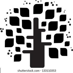 Stylized vector black tree