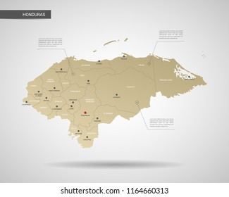 Honduras On World Map Images Stock Photos Vectors Shutterstock