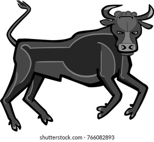 Stylized vector illustration of a bull.