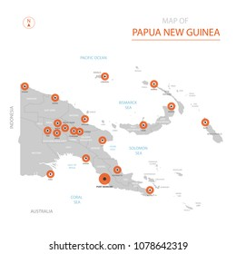 Papua New Guinea Region Map Stock Images RoyaltyFree Images