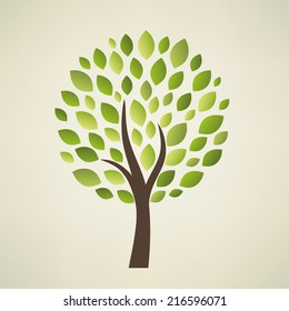 Stylized vector  tree