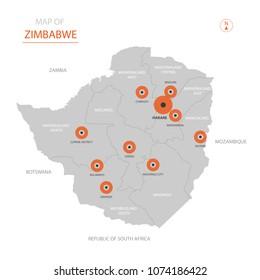 Zimbabwe Map Images Stock Photos Vectors Shutterstock