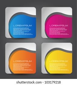 stylized web banners set