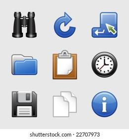 Stylized web icons, set 03