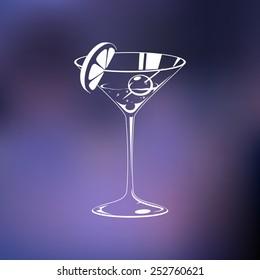 Stylized wine glass