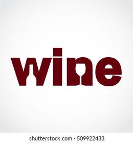 stylized wine text