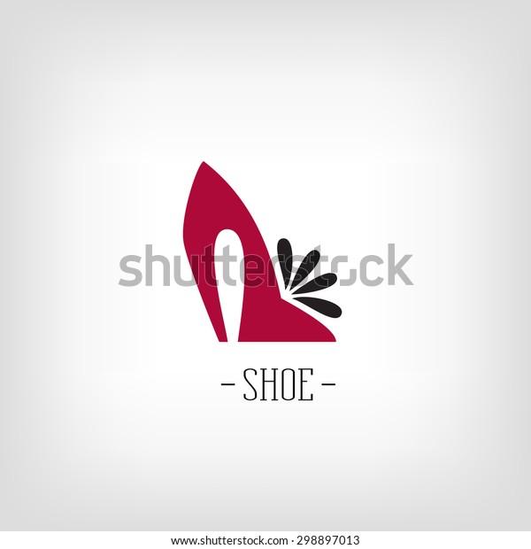 Stylized womens shoes. Logo shoe store.