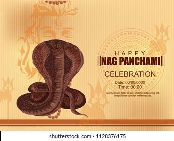 Subh Nag Panchami, abstract or Poster for Happy Nag Panchami with nice and creative design illustration