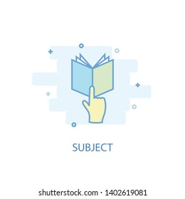 subject line concept. Simple line icon, colored illustration. subject symbol flat design. Can be used for UI/UX