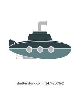 submarine icon. flat illustration of submarine vector icon. submarine sign symbol