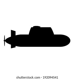 Submarine icon on white background.