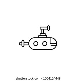 submarine, robot outline icon. Signs and symbols can be used for web, logo, mobile app, UI, UX