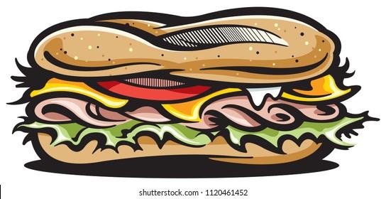 Submarine sandwich icon