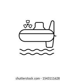 Submarines nuclear icon. Simple line outline vector of nuclear energy icons for ui and ux website or mobile application