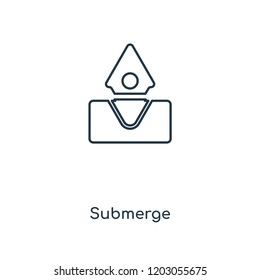 Submerge concept line icon. Linear Submerge concept outline symbol design. This simple element illustration can be used for web and mobile UI/UX.