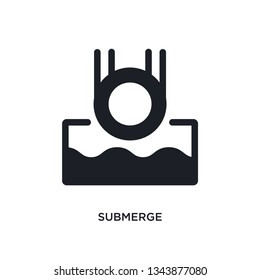 submerge isolated icon. simple element illustration from science concept icons. submerge editable logo sign symbol design on white background. can be use for web and mobile