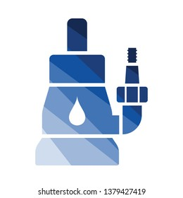 Submersible water pump icon. Flat color design. Vector illustration.