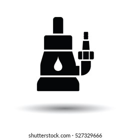 Submersible water pump icon. White background with shadow design. Vector illustration.