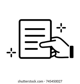 submit document / correct document / trusted document icon