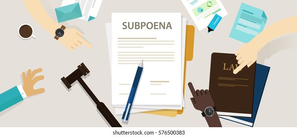 subpoena ordering a person to attend a court