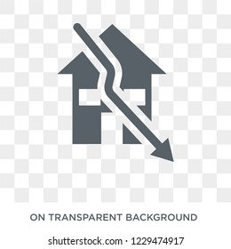 Sub-prime loans icon. Trendy flat vector Sub-prime loans icon on transparent background from business   collection.