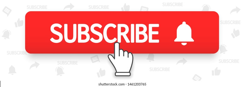 subscribe images stock photos vectors shutterstock https www shutterstock com image vector subscribe bell button hand cursor red 1461203765