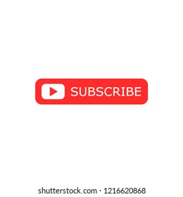 Subscribe button icon. Vector illustration. Business concept subscribe pictogram.