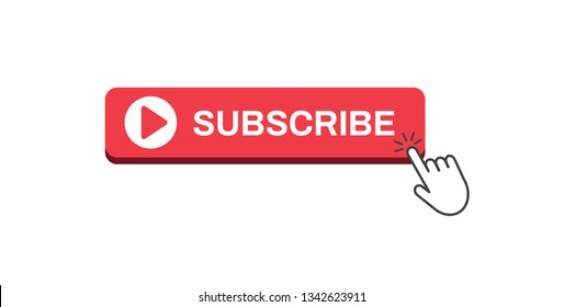 Subscribe button icon. Vector illustration. on white background