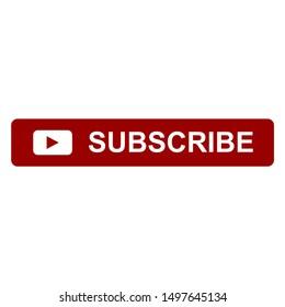 Subscribe button vector icon symbol