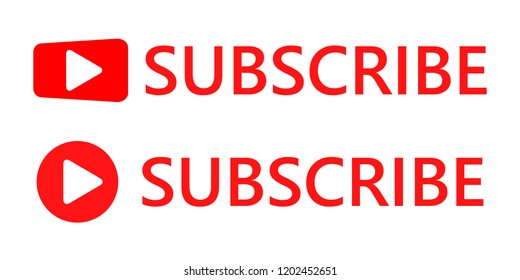 Subscribe buttons. Vector illustration. Subscribe icons, isolated