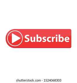 subscribe red button. website element. website icon. channel subscribe  icon