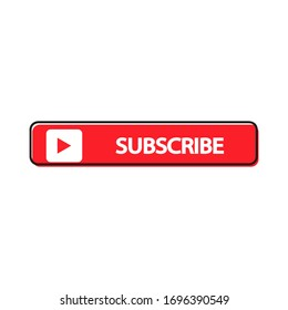 Subscribe sign on a white  background.Vector illustration