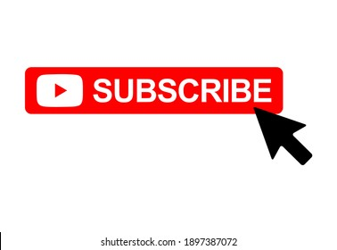 Subscribe web button, social media icon vector illustration, internet website symbol, isolated sign .