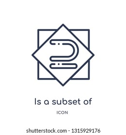is a subset of icon from signs outline collection. Thin line is a subset of icon isolated on white background.