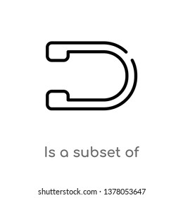is a subset of vector line icon. Simple element illustration. is a subset of outline icon from signs concept. Can be used for web and mobile