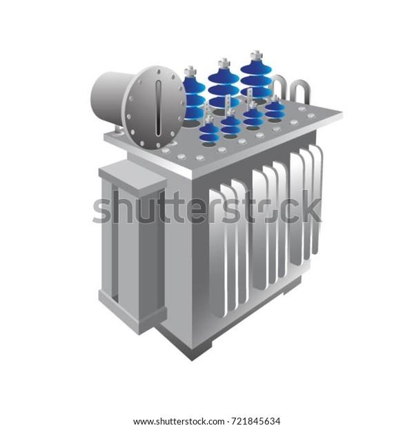 Image Vectorielle De Stock De Transformateur De Sous Station En
