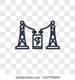 substation vector icon isolated on transparent background, substation logo concept