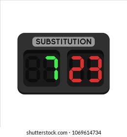 Substitution soccer boards