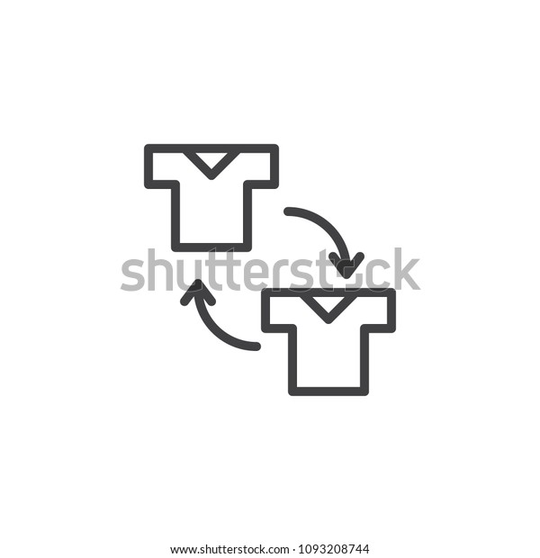 Substitution Soccer Player Outline Icon Linear Stock Vector
