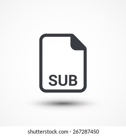 Subtitle File. SUB text file extension icon